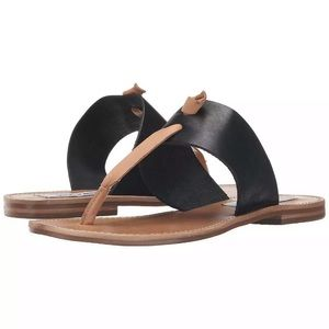 Steve Madden Black & Tan Olivia Sandals